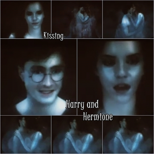 Harry and Hermione wallpaper with a portrait called harmony kissing