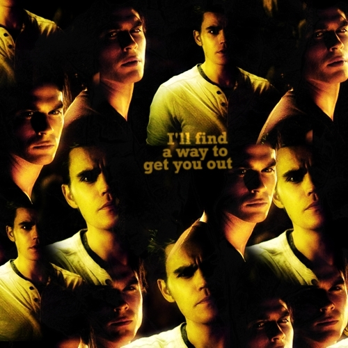 i'll find a way to get you out. [Damon/Stefan 2x10] - the-vampire-diaries-tv-show Fan Art