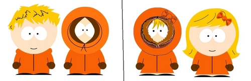 South Park kertas dinding called kenny as a girl