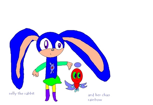 relly the rabbit with her chao 무지개, 레인 보우