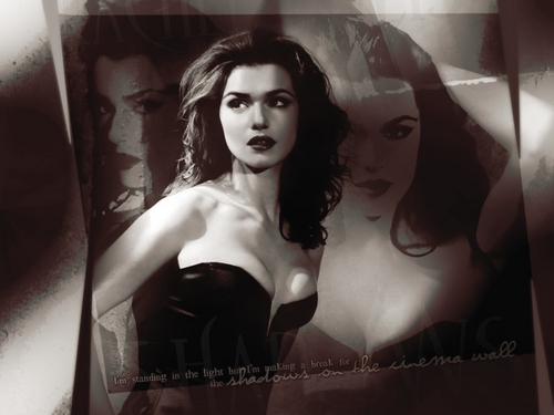 Rachel Weisz wallpaper possibly containing attractiveness and a portrait titled shadows on the cinema wall