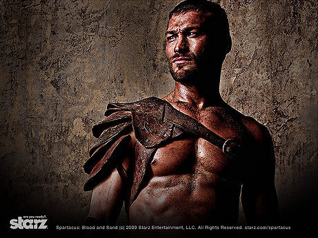 sand, blood, Spartacus, Andy Whitfield :: Wallpapers