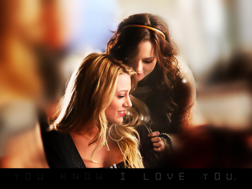 Blair Waldorf wallpaper containing a portrait called 'Blair & Serena