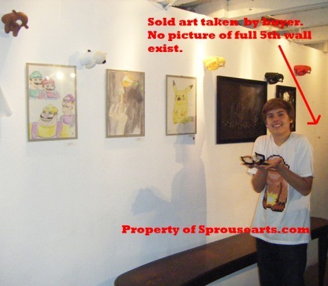 Братья Спроус Обои possibly with a sign and a living room called Dylan Sprouse's Art Exhibition Pics!!