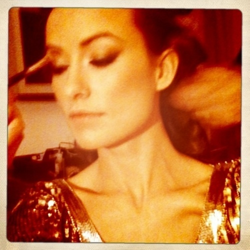"""Getting ready for tron premiere. Butterflies. Maybe we should just go bowling. """