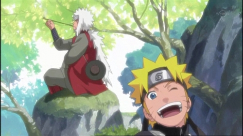 Jiraiya and Наруто