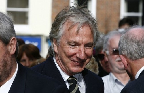 Alan Sydney Patrick Rickman is Smiling xD