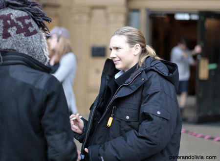 Anna Torv on the set December 10, 2010
