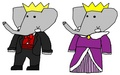 Archduke Andrew and Archduchess Mina - babar-the-elephant fan art