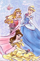 Aurora,Belle and cenicienta