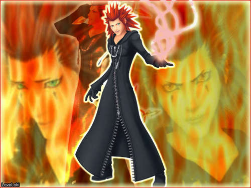 Kingdom Hearts wallpaper probably containing anime called Axel