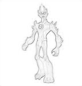 Ben 10: Ultimate Alien achtergrond titled Drawing Of Swampfire