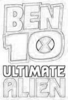 Drawing Of The Ben 10 Ultimate Alien Sign - ben-10-ultimate-alien Icon