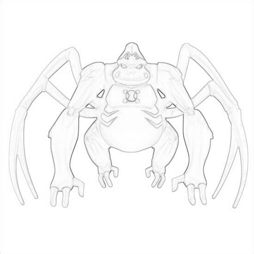 Ben 10: Ultimate Alien achtergrond possibly containing a red cabbage titled Drawing Of Utimate Spidermonkey