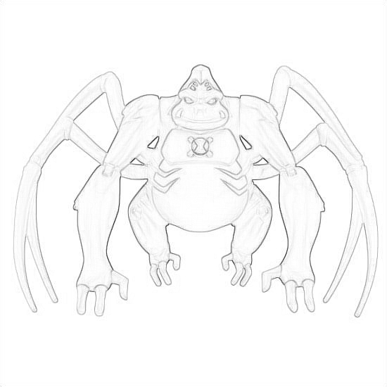 Drawing Of Utimate Spidermonkey