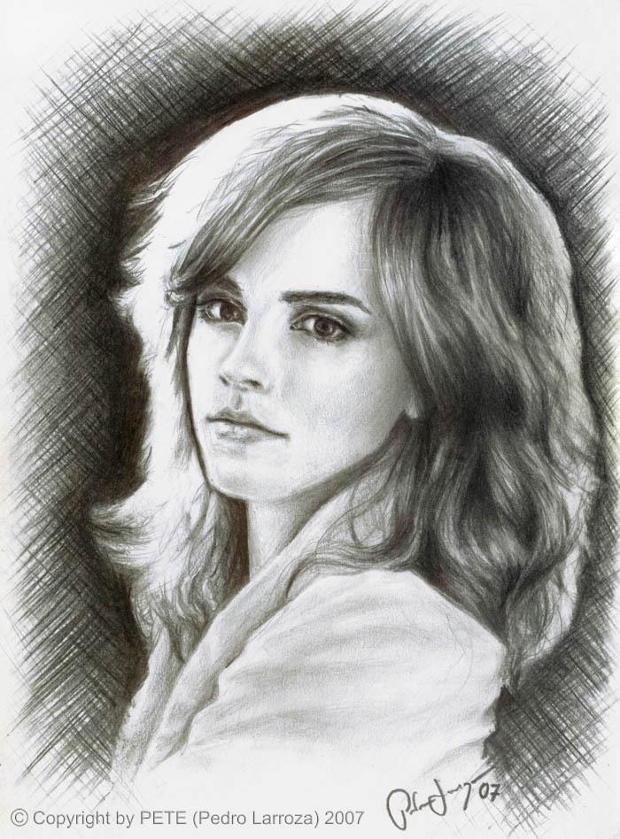 Watson Drawing Drawing Emma-watson Fan Art