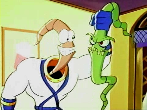 EARTHWORM JIM AND EARTHWORM EVIL JIM