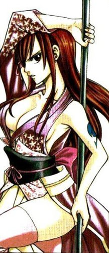 Erza Scarlet wallpaper probably containing anime called Erza