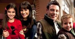 Finn & Rachel wallpaper possibly containing a well dressed person and a portrait titled Finchel Family :)