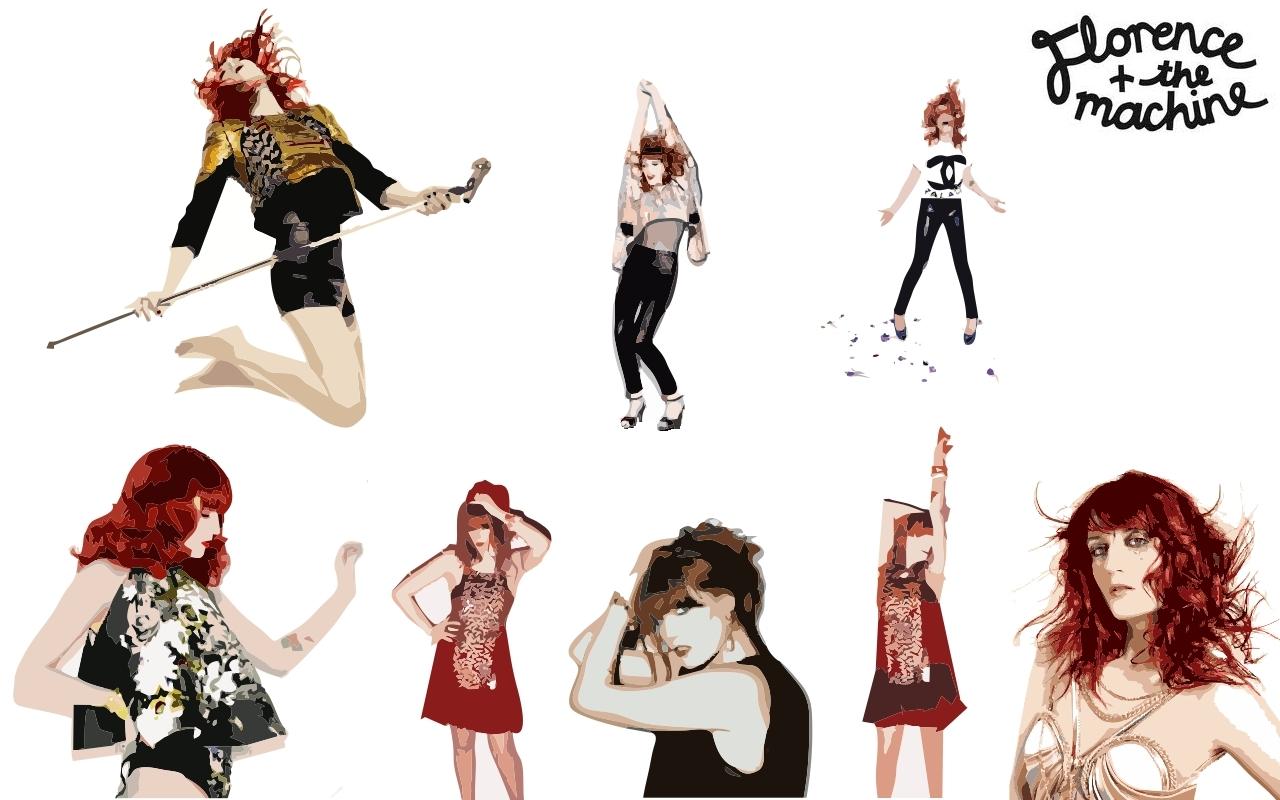 Florence + The Machine karatasi la kupamba ukuta
