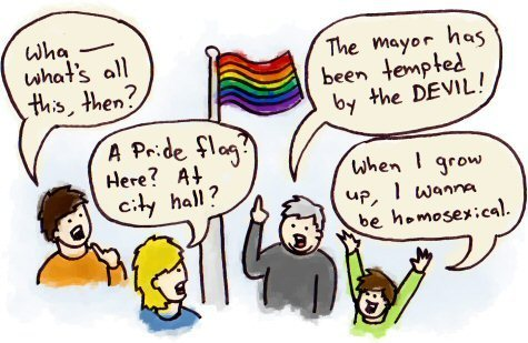 Gay Pride Flag Cartoon