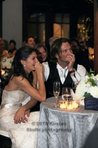 Jared Padalecki Genevieve Cortese Wallpaper With A Dinner Table And Bridesmaid Led Gen Jaredwedding