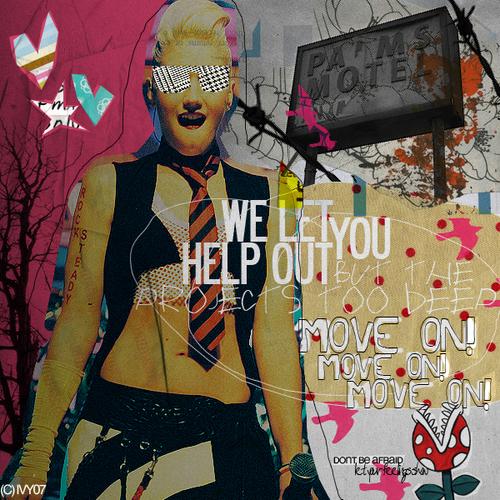 Gwen Stefani wallpaper with a sign entitled Gwen Stefani by cosmicska