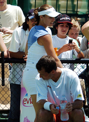 Hingis and Stepanek - tennis Photo
