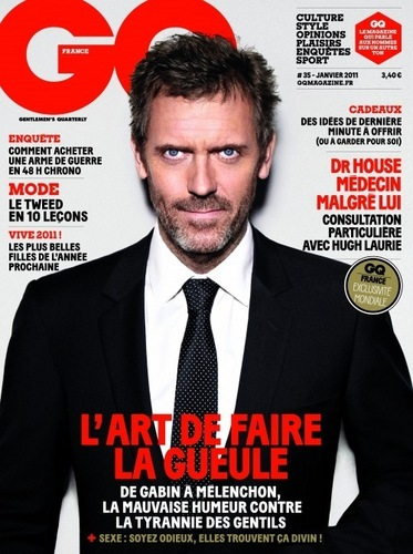 Hugh Laurie on the Cover of the January 2011 GQ magazine (FRANCE)
