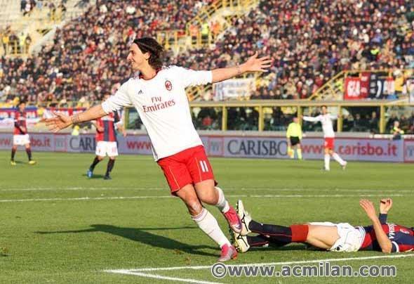Ibrahimovic..(Bologna-Milan 0-3, Serie A Tim 2010/2011)