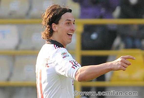 Ibrahimovic...(Bologna-Milan 0-3, Serie A Tim 2010/2011)