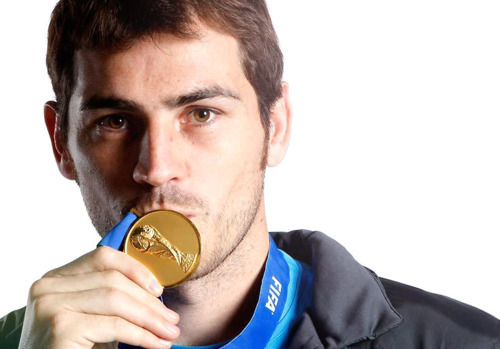 Iker and his medal