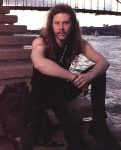 James Hetfield wallpaper possibly with a park bench and a chainlink fence entitled James
