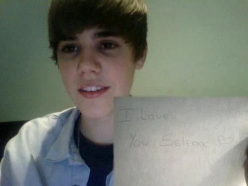 Justin Bieber 'I amor you Selena'