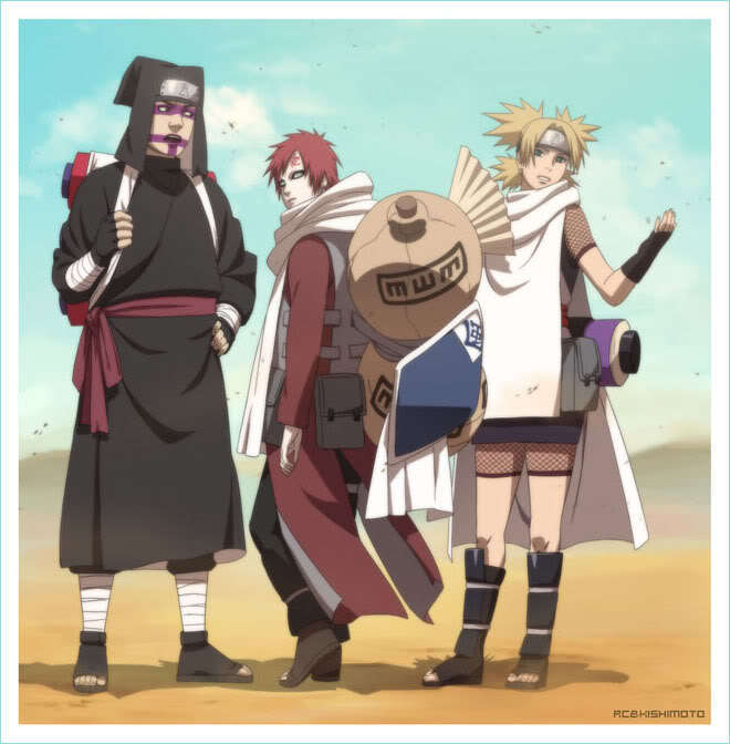 Kankuro, Temari, Gaara - Sand Team Photo (17649633) - Fanpop