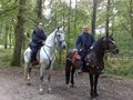 Katie and Anthony on horses - merlin-on-bbc photo