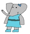 Lulu - Badou's Cousin - babar-the-elephant fan art