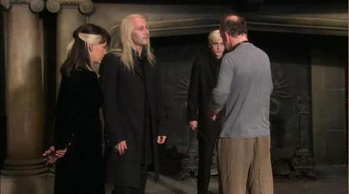Malfoy Family behind the scenes of DH