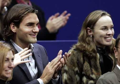 Martina Hingis and Federer