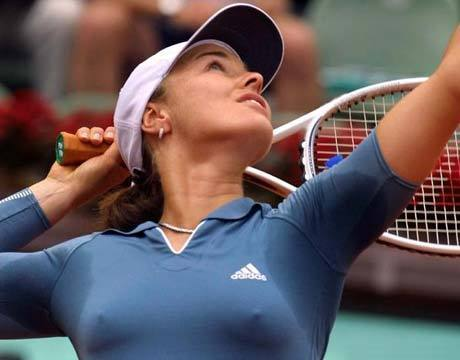 Martina Hingis breast - tennis Photo