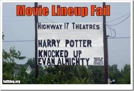 Movie lineup fail