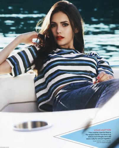 Nina Dobrev wallpaper entitled Nina Dobrev / InStyle Magazine January 2011