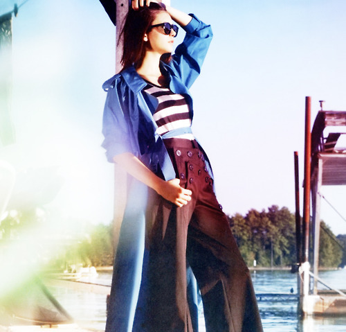 Nina Dobrev wallpaper probably containing an outerwear and a box coat entitled Nina Dobrev / InStyle Magazine January 2011