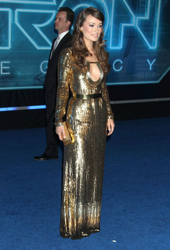 Olivia Wilde wallpaper titled Olivia Wilde @ the LA Premiere of 'Tron: Legacy'