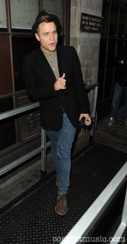 Olly Murs Outside The Bbc Radio One Studios.