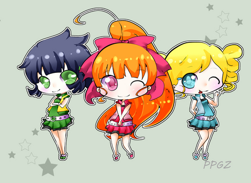 powerpuff girls Z wallpaper containing anime entitled PPGZ Fan Art