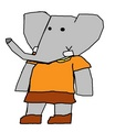 Periwinkle - Pom's Wife - babar-the-elephant fan art