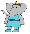 Princess Lulu - babar-the-elephant fan art
