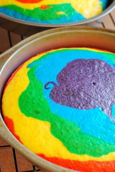 rainbow cake bright colors photo 17699947 fanpop