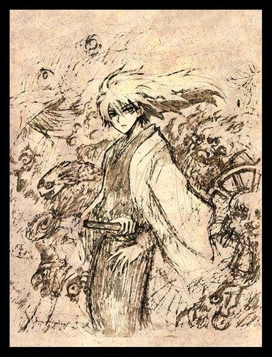Nurarihyon no Mago karatasi la kupamba ukuta containing anime titled Rikuo(yokai_form)_art_